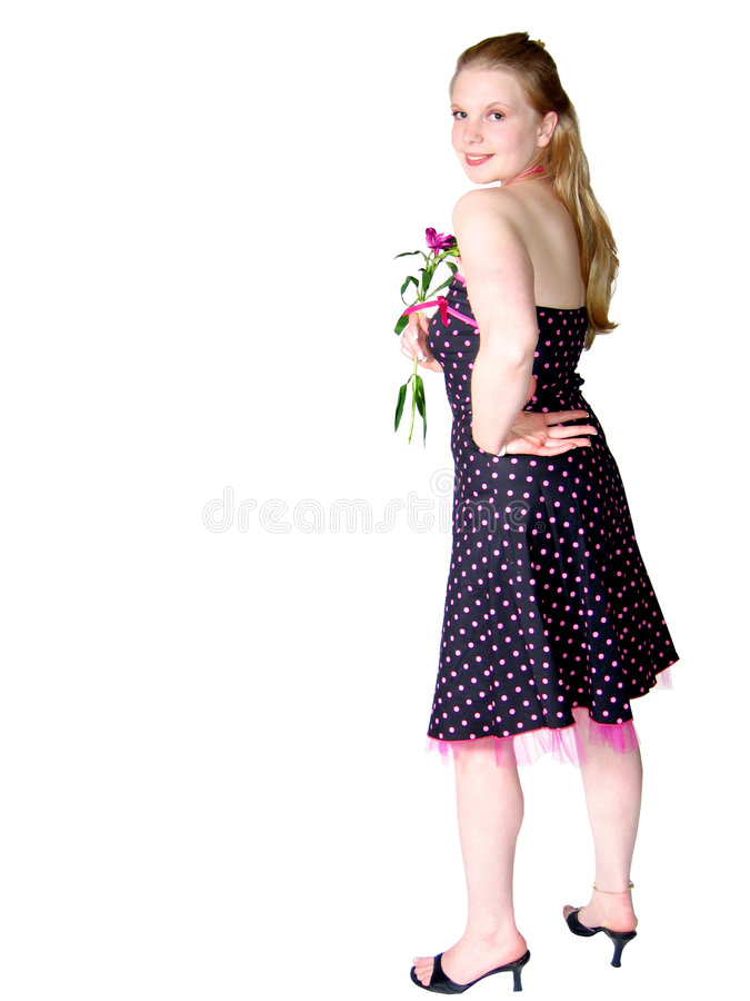Young Woman In Pretty Dress