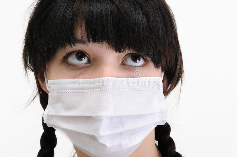 Young Woman In Protective Medical Mask Stock Images