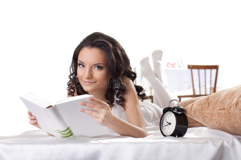 Download Young Woman Read Book In Morning Interior Stock Photography - Image: 22770092