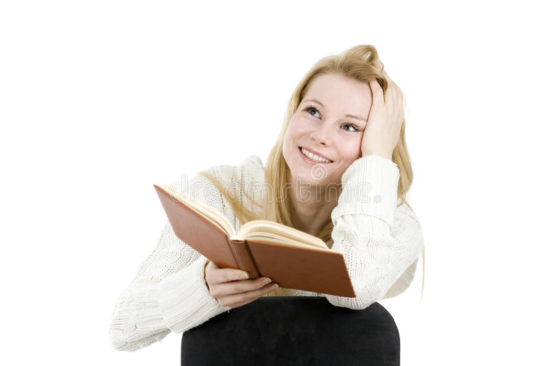 Download Young woman reading book stock image. Image of learning - 12687283