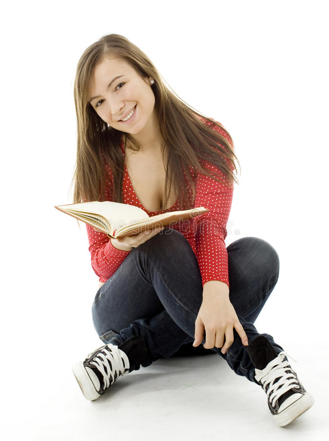 Download Young Woman Reading Book Stock Photo - Image: 12910350