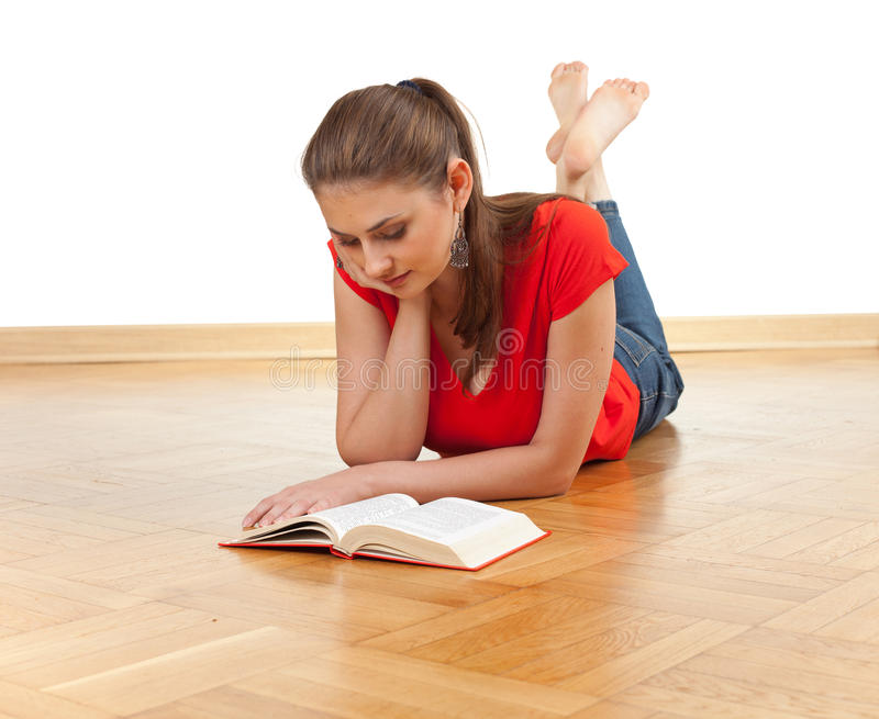 Download Young woman reading book stock image. Image of learn - 14722275