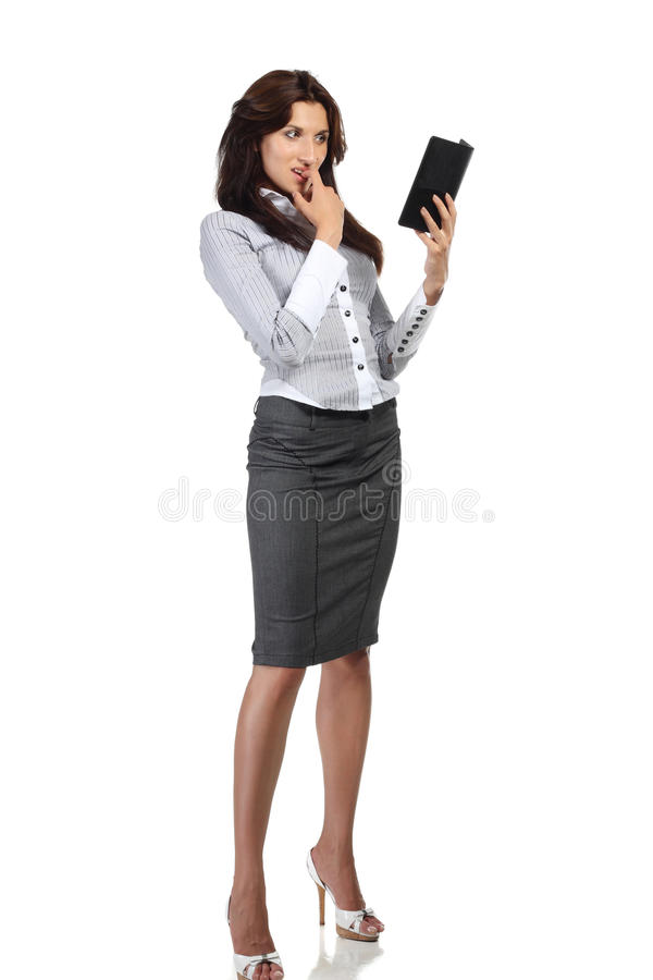 Download Young Woman Reading Electronic Book Royalty Free Stock Photography - Image: 15795777