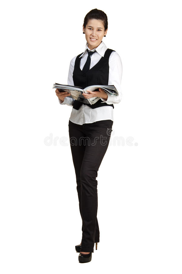 Download Young Woman Reading Magazine Stock Photo - Image: 14509674