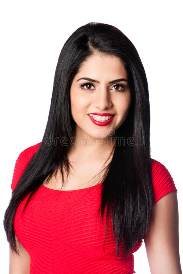 Young woman in red royalty free stock photography
