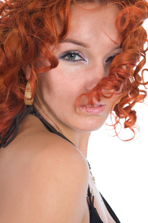 Young woman with red hair royalty free stock image