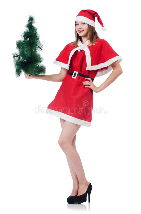 Download Young Woman In Red Santa Costume Stock Image - Image: 34286711