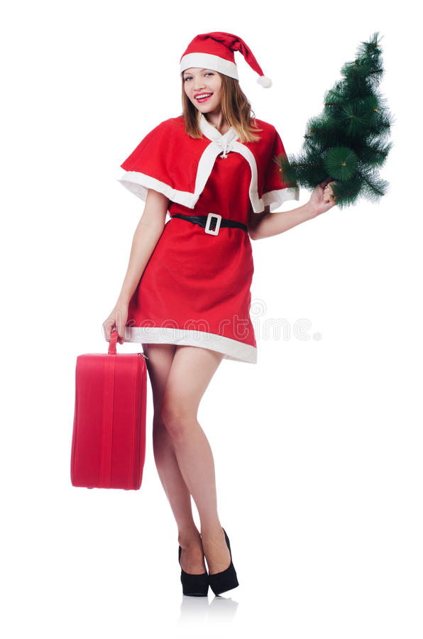 Download Young Woman In Red Santa Costume Royalty Free Stock Image - Image: 34286716