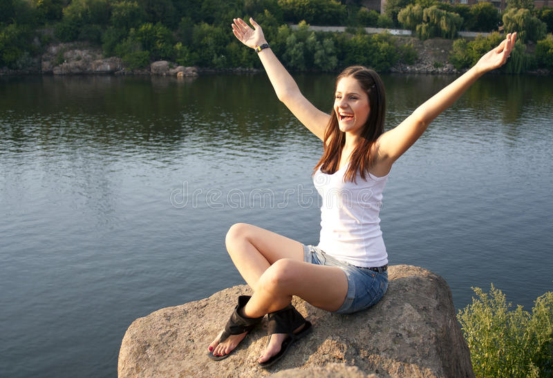 Download Young Woman Relaxing Outdoors Stock Photo - Image: 20787552