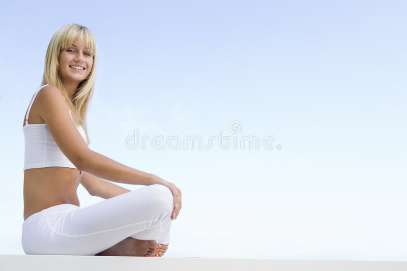 Download Young Woman Relaxing Outdoors Stock Image - Image: 5007981
