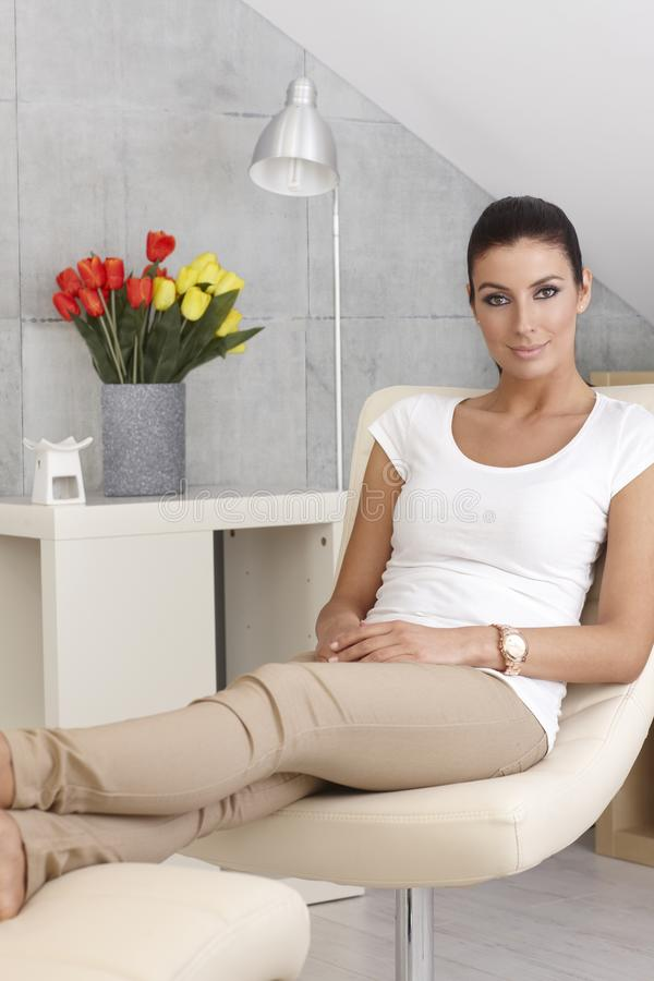 Download Young Woman Resting At Home Stock Image - Image: 38602861