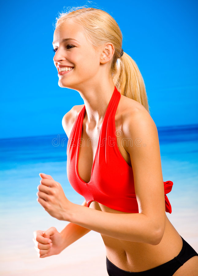 Young Woman Running Royalty Free Stock Image