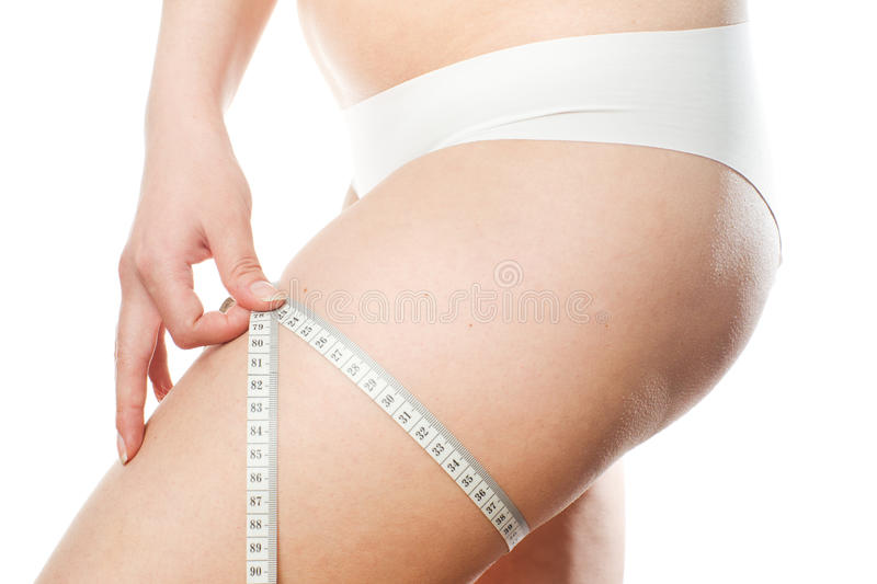 Young woman's body royalty free stock photos