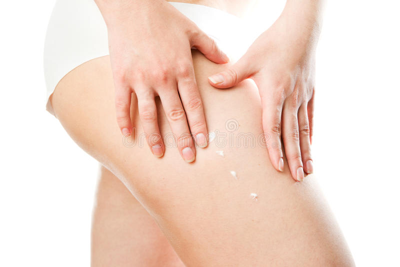 Young woman's body stock photography