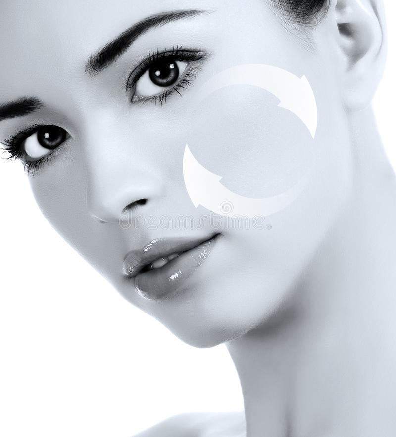 Young woman`s face. Antiaging concept royalty free stock photo