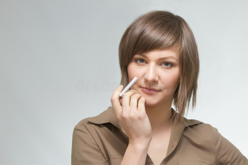 Young woman's portrait royalty free stock photography