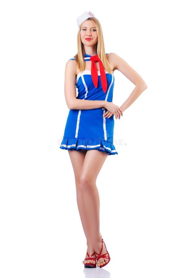 Young Woman Sailor Stock Photography