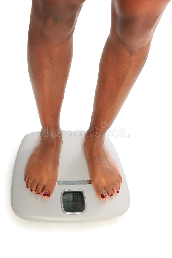 Young Woman on Scales
