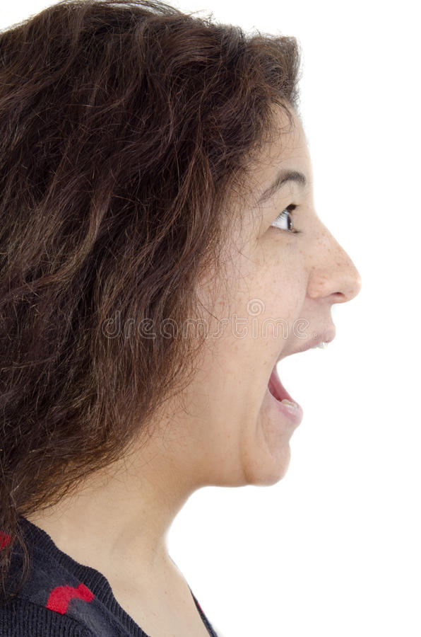 Download Young Woman Screams Loud Royalty Free Stock Images - Image: 24417999
