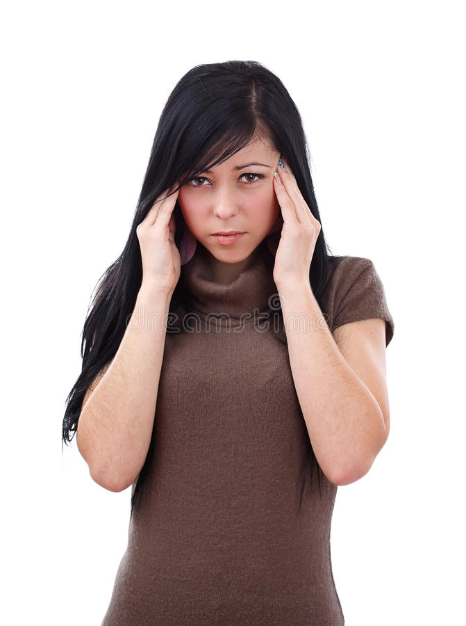 Download Young Woman With Severe Headache Stock Image - Image: 22423407