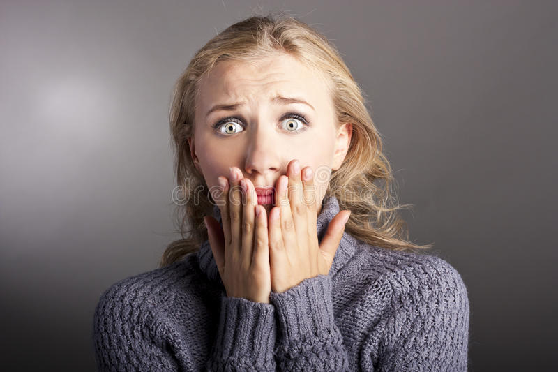 Download Young woman shocked stock photo. Image of caucasian, angry - 26617734