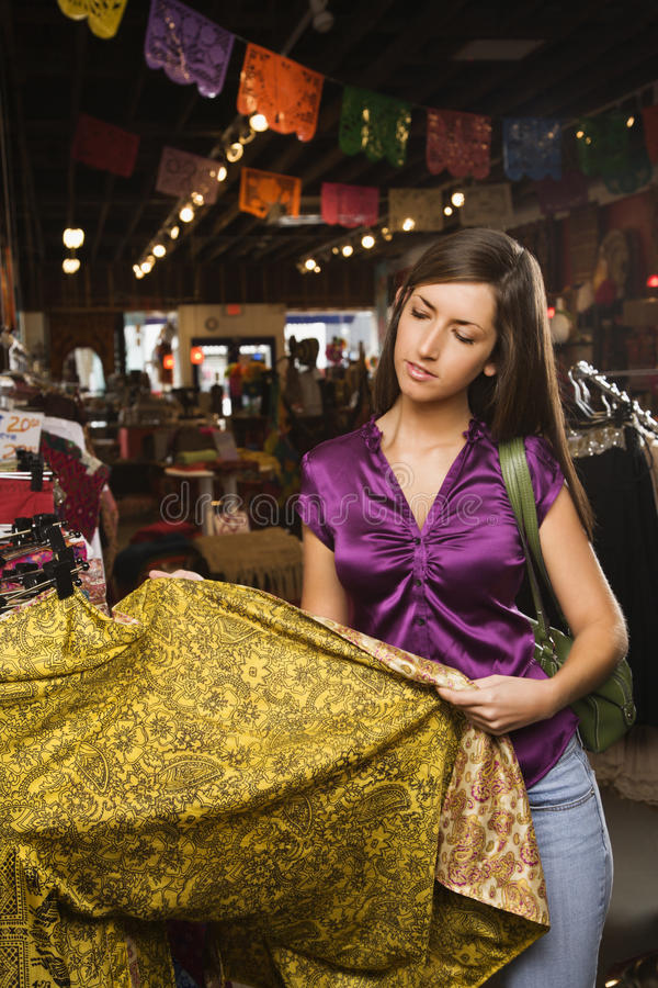 Download Young Woman Shopping stock image. Image of quarter, retail - 12983967