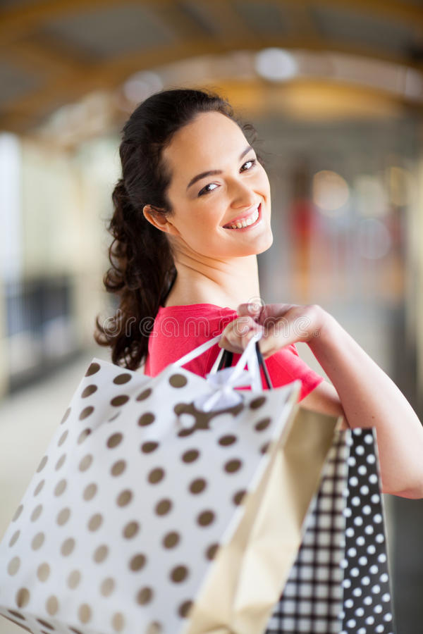 Download Young woman shopping stock image. Image of fashion, elegant - 26728867