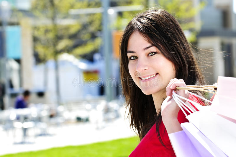 Download Young woman shopping stock photo. Image of girl, cute - 9744784
