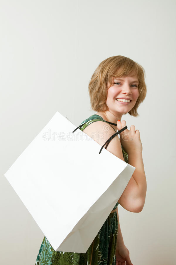 Download Young Woman With Shopping Bag Stock Image - Image: 20588645