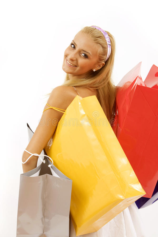 Download Young Woman With Shopping Bags Stock Photo - Image: 10709988