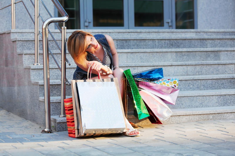 Download Young Woman With Shopping Bags Stock Photo - Image: 20175734