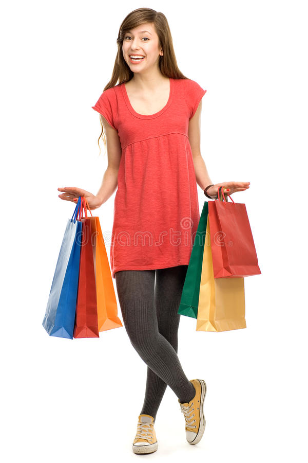 Download Young Woman With Shopping Bags Stock Image - Image: 23152441