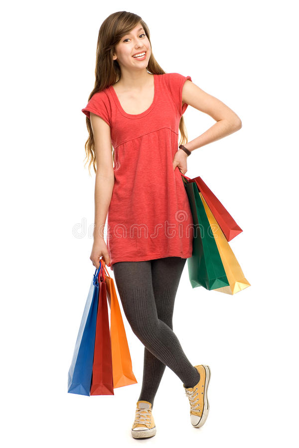 Download Young Woman With Shopping Bags Stock Image - Image: 23152501