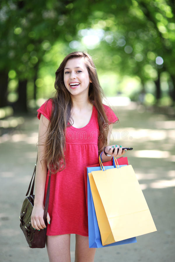 Download Young Woman With Shopping Bags Stock Photo - Image: 25247098