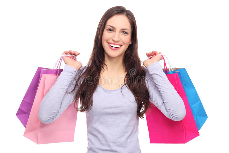 Download Young Woman With Shopping Bags Stock Photo - Image: 28466332
