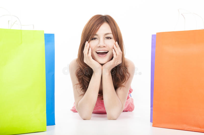 Download Young Woman With Shopping Bags Stock Photo - Image: 29067818