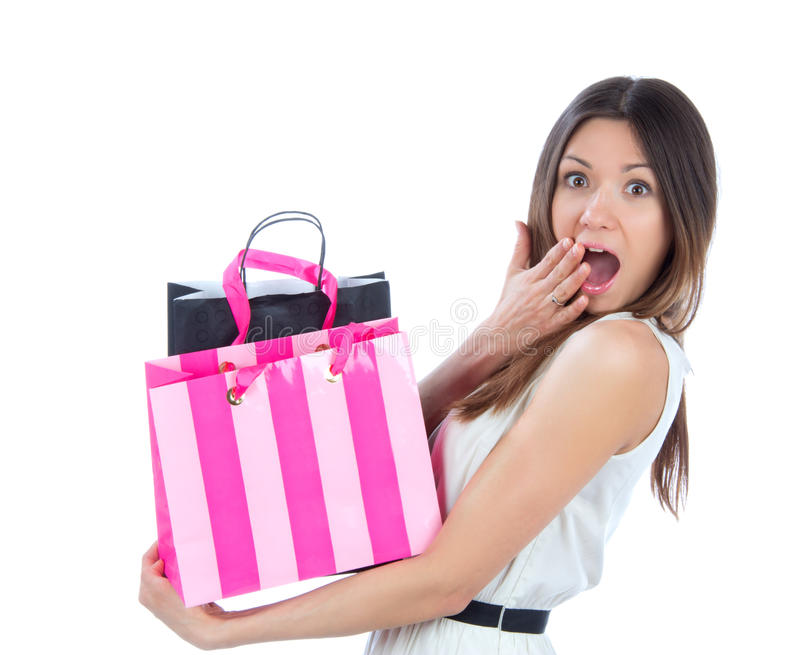 Young woman with shopping bags l shoppingand stock photo