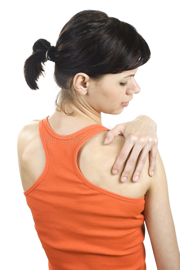 Download Young Woman With Shoulder Pain. Stock Image - Image: 31369759