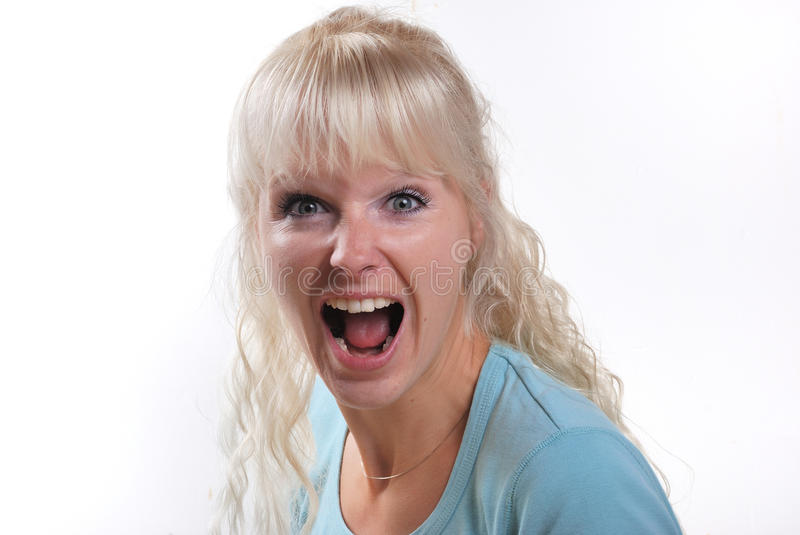Download Young woman shouting stock image. Image of open, portrait - 17656497