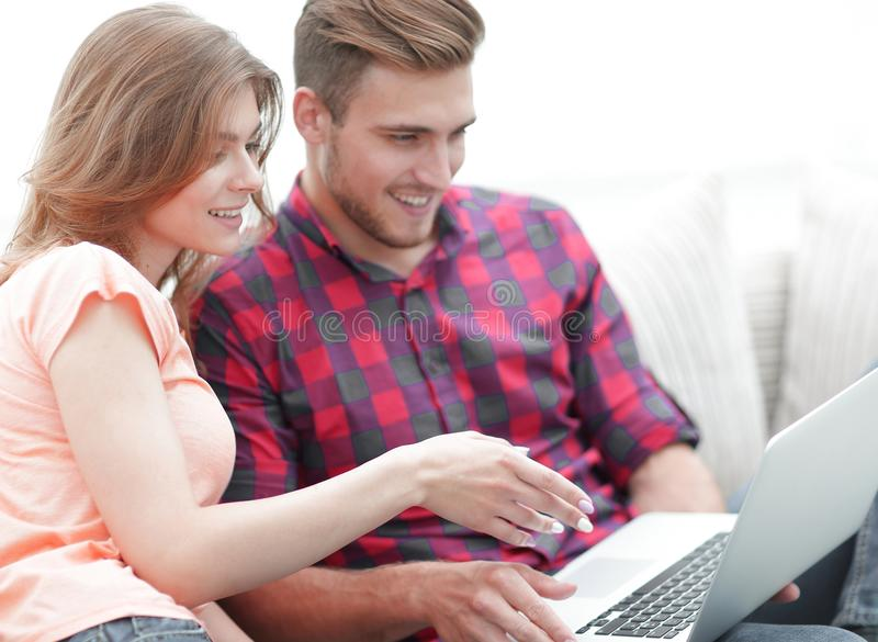 Young woman showing her boyfriend`s photo on the laptop. Young women showing her boyfriend`s photo on the laptop. photo with copy space stock photos
