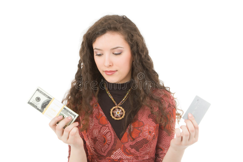 Download Young woman showing money stock photo. Image of girls - 2783512