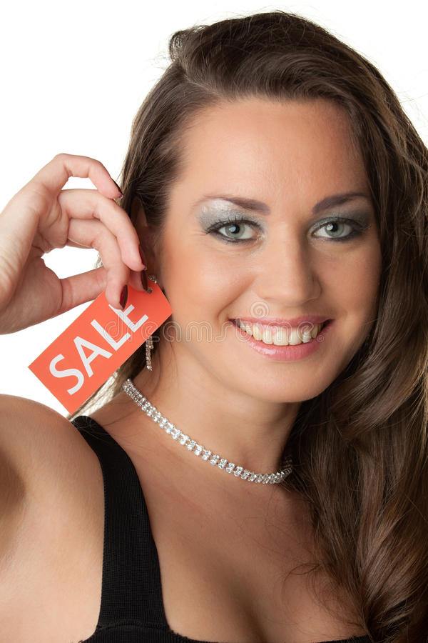 Download Young Woman Showing SALE Sign Stock Photo - Image of placard, advertisement: 19003248