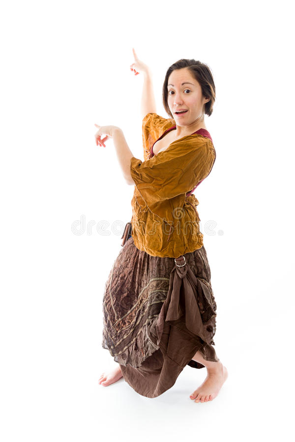 Download Young Woman Showing Something Stock Photo - Image: 41945368