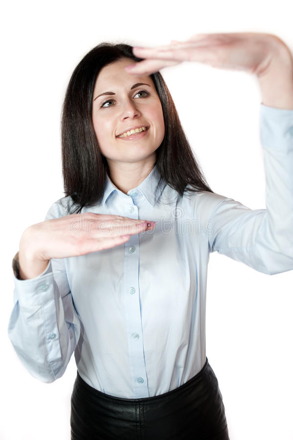 Download Young Woman Shows Income Level Stock Image - Image: 29900515