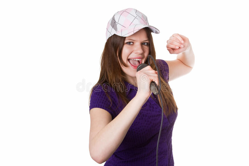 Download Young woman singing stock image. Image of attractive - 25862975