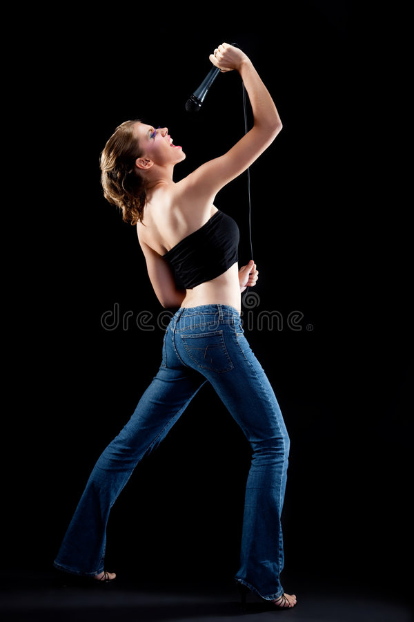 Download Young Woman Singing Out Loud Stock Image - Image: 9332317