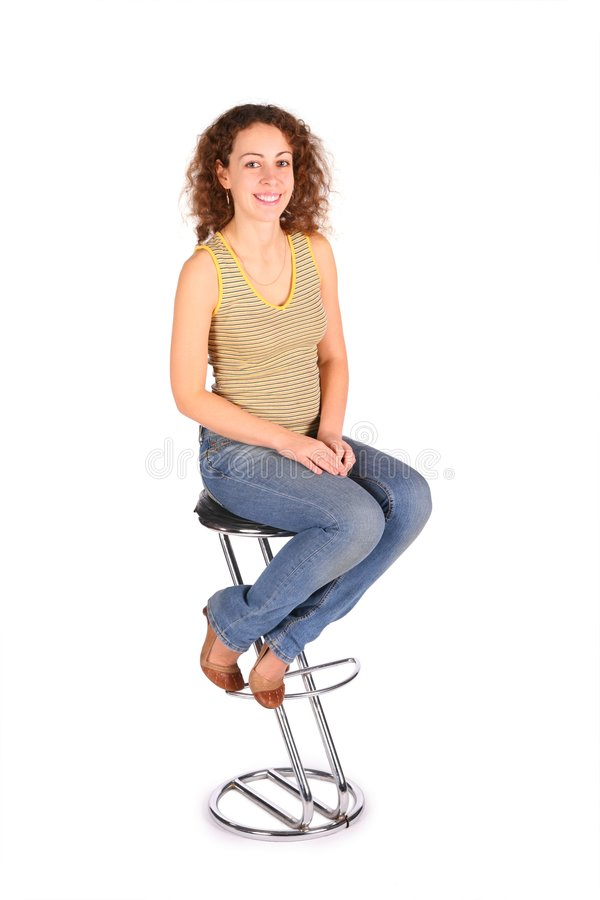 Young woman  sit on the bar stool