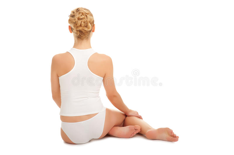 Download Young Woman Sit On The Floor Stock Photo - Image: 19929510