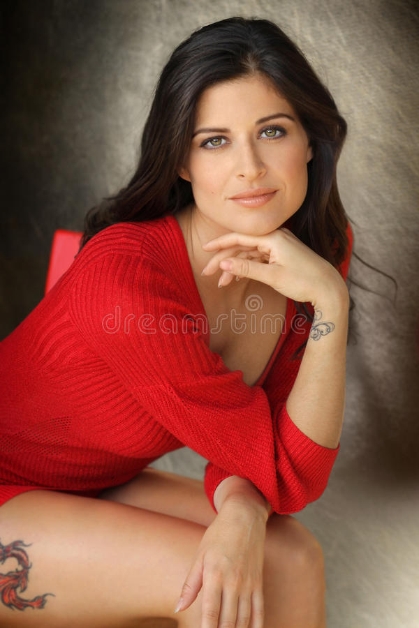 Young Woman Sitting royalty free stock photos