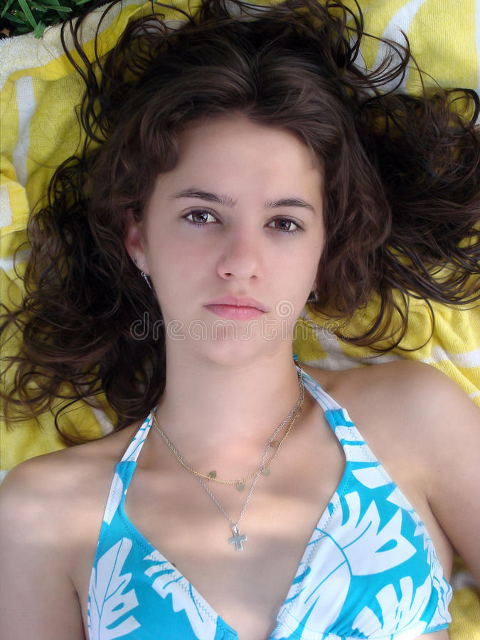 Free Young Woman Slept On A Towel Royalty Free Stock Photos - 20600058